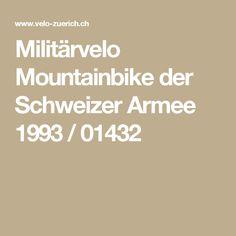 Militärvelo Mountainbike der Schweizer Armee 1993 / 01432