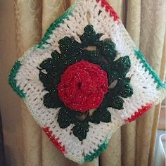 "'Tis the holiday season! Here is a potholder just for ""pretty,"" to crochet up in one color or a bouquet of colors to decorate your holiday kitchen...."