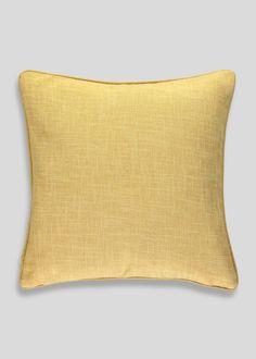 Crosshatch Cushion (48cm x 48cm) – Yellow – Matalan