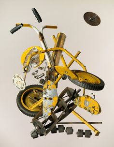 Apart Push Lawn Mower, by Todd McLellan - 20x200 (from $24)