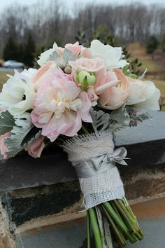 Light Pink and Grey Rustic Wedding | Blush and Grey: Katie and Mark's Wedding at Sweetwater Farm Bed and ...