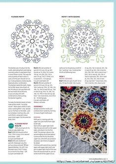 Crochet Flower Squares, Crochet Square Blanket, Crochet Round, Love Crochet, Crochet Granny, Beautiful Crochet, Crochet Flowers, Crochet Chart, Crochet Motif