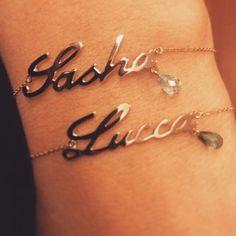 Custom made children's name with birthstones bracelet. JmGems design.
