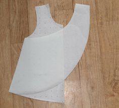 Cross back smock pattern