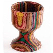 "RAINBOW WOOD Egg Cup Set of 2 by BigKitchen. $8.54. Sold as Set of TWO. Perfect for holding soft-boiled eggs.. Unusual Rainbow wood. Probably the most unusual egg cups you will ever see! As functional as it is beautiful, this RAINBOW wood egg cups is just what you need. We are offering a pair of cups in this offer  Measures : 2.5"" (inches) H x approx. 2"" W.  Cup is approx. 1.5"" deep.   Perfect for holding soft-boiled eggs"