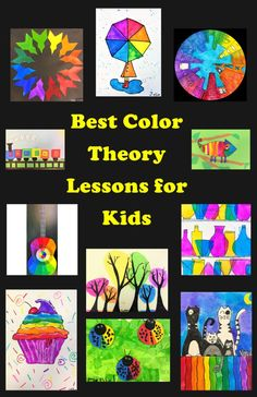 Best Color Theory Art Lessons for kids Leah Newton Art Color Art Lessons, Art Lessons For Kids, Art For Kids, Visual Art Lessons, Artists For Kids, Kindergarten Art Lessons, Art Lessons Elementary, Elements Of Art Space, Arte Elemental