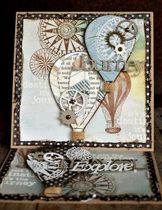 tim holtz cards with compass - Google Search