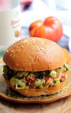 Mediterranean Pesto Chickpea Salad #thursday (eat as a salad, sandwich, or lettuce wraps)