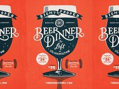 Right Proper Beer Dinner Poster beer poster print illustration handlettering lettering typography type Poster Sport, Poster Cars, Poster Retro, Beer Poster, Design Typography, Typography Inspiration, Typography Poster, Graphic Design Inspiration, Creative Typography