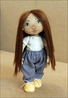 Купить Текстильная кукла Юленька - комбинированный, текстильная кукла, интерьерная кукла, коллекционная кукла