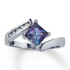 Lab-Created Alexandrite Ring
