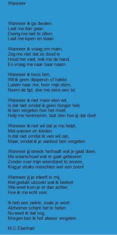 Gedicht dementie
