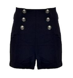 Vintage Dita Shorts: Shorts feature four fully-functional silver-toned buttons placed symmetrically on each side, exaggerated side pockets, airy chiffon fabric throughout, and mock rolled cuffs to finish.