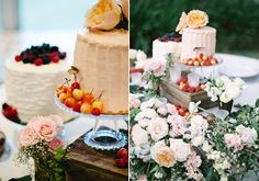My pride and joy of cake tables, for Kalindi & Ben Sweet 'n' Flour   www.sweetnflour.com  Romantic Florida garden wedding   photo by Julie Cate Photography   100 Layer Cake