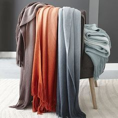 I ordered the orange for the living room. Softest Throw - Ombre #westelm