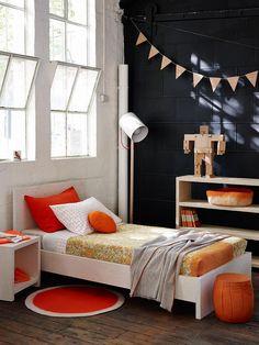 Orange Rules In This Color Happy Modern Kidu0027s Bedroom.