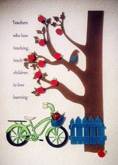 Teacher Gift Thank You Teachers Who Love by RubyCanoeDesign, $20.00