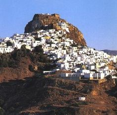 Panoramic view of Chora -capital of Skyros - Prefecture of Evia GREECE