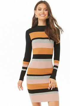 Forever 21 is the authority on fashion & the go-to retailer for the latest trends, styles & the hottest deals. Shop dresses, tops, tees, leggings & more! Beautiful Outfits, Cool Outfits, Shop Forever, Striped Dress, Lounge Wear, Color Blocking, Latest Trends, Clothes For Women, Chic