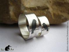 """Кольца ручной работы. Ярмарка Мастеров - ручная работа """"неразлучники"""" кольцо из серебра 925. Handmade."""