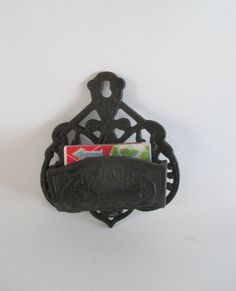 Match Holder Vintage Cast Iron Wilton Products by HobbitHouse