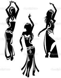 bailarina arabe silueta - Buscar con Google