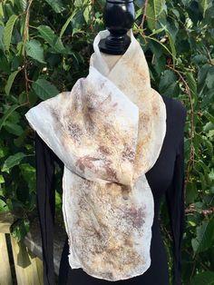 Eco printed scarf on silk by Kristin Hyde
