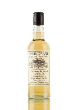 Springbank Private Bottling - Vintage 1993 Edgar Fleet's Family Springbank Whisky, Scotch Whisky, Distillery, Whiskey Bottle, Vintage, Scotch Whiskey, Vintage Comics