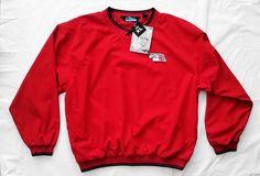 New Tri-Mountain Red XL 2560 Atlantic Shirt Windbreaker Microfiber Lined Logo #TriMountain #Windbreaker