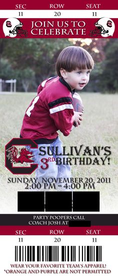 Football Party; Gamecock Football; USC Football; Go Gamecocks!; Sully @Brittany Horton Horton Horton Horton Horton Moody Johnson this will be your child
