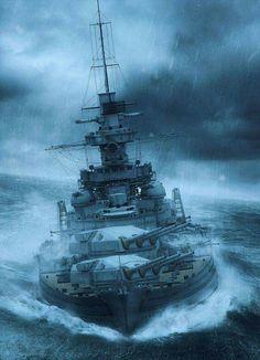 Battlecruiser or Battleship Gneisenau, looks like a.....
