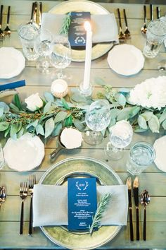 i like this garland with the candles and the plate set up -
