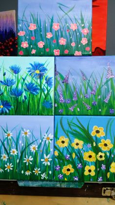 5 Small Flower Paintings Inspired By Angela Anderson And Cinnamon Small Flower Print Print On Canvas Tiny Painting Small Canvas Original Small Abstract Flower Painting On By Bluepoppydesign Flower Painting…Read more of Small Flower Paintings Small Canvas Paintings, Mini Canvas Art, Easy Canvas Painting, Spring Painting, Spring Art, Small Paintings, Painting For Kids, Painting & Drawing, Art For Kids