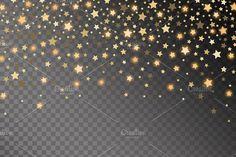 Abstract golden starfall pattern. Wedding Card Templates