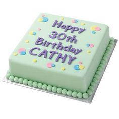 Bold and Beautiful Birthday Cake - This cake is just bursting with fun all over. Bright fondant balls and a brilliant birthday message created with fondant using our Alphabet and Numbers Silicone Molds. Convey your custom message and have fun doing it. 90th Birthday Cakes, Happy 30th Birthday, 75th Birthday, Birthday Ideas, Birthday Parties, Wilton Cake Decorating, Cake Decorating Supplies, Decorating Letters, Decorating Ideas