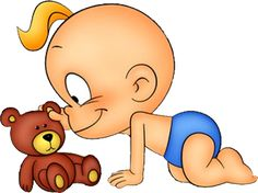 Baby Teddy Bear - Funny Baby Clip Art