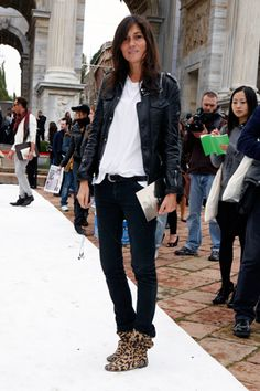 Emmanuelle Alt in Paris. | Effortlessly cool or she makes it look that way. | forums.thefashionspot