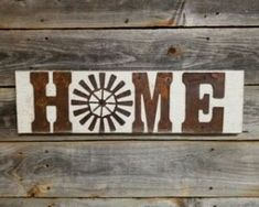 Rustic Metal Letters & Wall Art – Rustic Metal Letters, Signs and Art for Your Home Metal Wall Letters, Letter Wall Art, Rustic Signs, Wooden Signs, Vinyl Projects, Craft Projects, Craft Ideas, Unique Clocks, Ball Jars