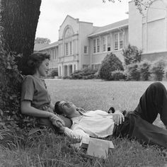 High school, Tennessee, 1947, photo by Edward Clark