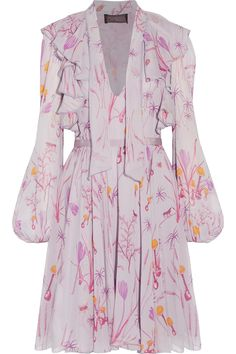Shop on-sale Giambattista Valli Ruffled printed silk-chiffon mini dress. Browse other discount designer Dresses & more on The Most Fashionable Fashion Outlet, THE OUTNET.COM