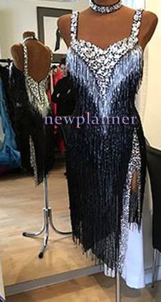cc6449d888 Competition Ballroom Rhythm Salsa Rumba Samba Latin Cha Dance Dress US 12  UK 14