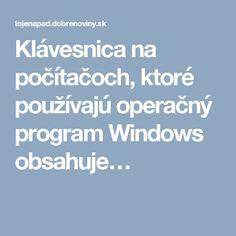 Klávesnica na počítačoch, ktoré používajú operačný program Windows obsahuje…