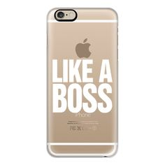 iPhone 6 Plus/6/5/5s/5c Case - Like a Boss White Transparent... ($40) ❤ liked on Polyvore featuring accessories, tech accessories, phone cases, phone, electronics, technology, iphone case, iphone 6 case, iphone cover case and transparent iphone case