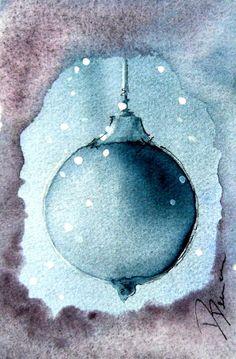 Christmas Cards Set of Six Watercolor Prints by sarahx Watercolor Christmas Cards, Christmas Drawing, Watercolor Cards, Watercolor Print, Watercolor Illustration, Watercolor Paintings, Watercolours, Christmas Cards To Make, Xmas Cards