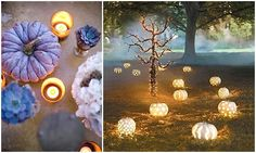 Pumpkin wedding inspiration~~ if your wedding was in the evening