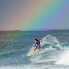 Cool shot of PIPELINE surf team member Ikaika Freitas in Hawaii.