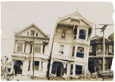 Photograph of the Effect of Earthquake on Houses Built on Loose or Made Ground After the 1906 San Francisco EarthquakeFile Unit: Committee Papers of the Senate Committee on Printing of the 60th Congress, 12/1907 - 3/1909.Series: Committee Papers, 1842 - 1946.Record Group 46: Records of the U.S. Senate, 1789 - 2015The 1906 San Francisco Earthquake struck 110 years ago on the morning of April 18, 1906. With an estimated magnitude of 7.9, it was one of the worst natural disasters in U.S…
