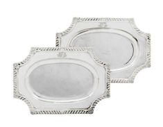 A PAIR OF GEORGE II SILVER MEAT-DISHES   MARK OF PAUL DE LAMERIE, LONDON, 1745   mid 18th Century, dinner services   Christie's Christ Church Oxford, Catherine The Great, Teller, Antique Silver, Pairs, London, Dishes, Meat, Serveware