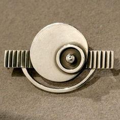 Gallery 925 - Georg Jensen Art Deco Brooch No. 230, Handmade Sterling Silver, 1930's