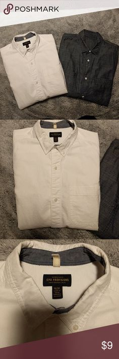 Urban outfitters CPO button up long sleeve shirts Size Medium, worn 1 or 2 times. I'm cleaning out my husband's closet of things he doesn't wear. The chambray one doesn't have a tag but its the same size as the white. Urban Outfitters Shirts Casual Button Down Shirts